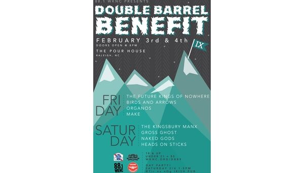 Double Barrel Benefit 9 poster designed by Julie Alvarez