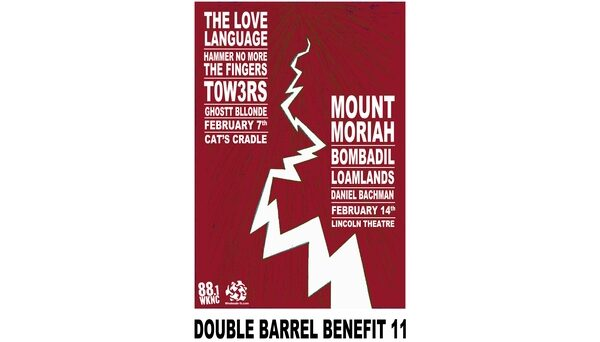 Double Barrel Benefit 11 poster designed by Karl Kuehn