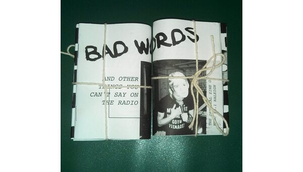 "WKNC's first official zine, ""Bad Words (and other things you can't say on the radio),"" was published in February 2015 for Double Barrel Benefit 12. Photo by Jamie Lynn Gilbert."