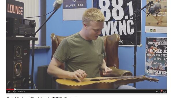 """WKNC's first """"The Lounge"""" video featured guitarist Daniel Bachman and was released Oct. 25, 2013."""