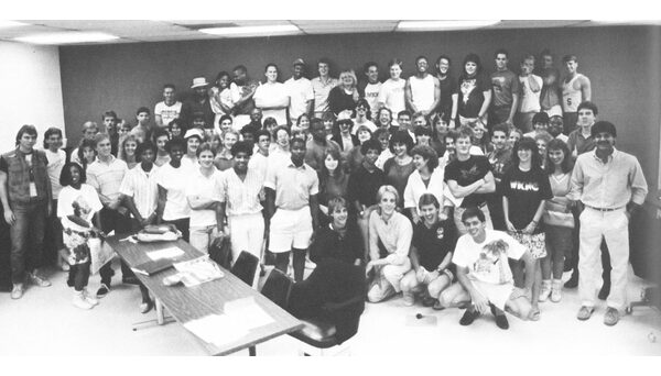 WKNC staff. Photo from 1988 Agromeck.