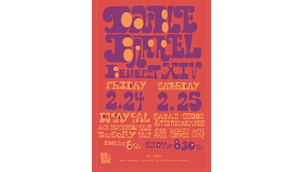 Double Barrel Benefit 14 poster designed by Ashley Darrisaw