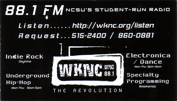 WKNC magnet design from 2006.