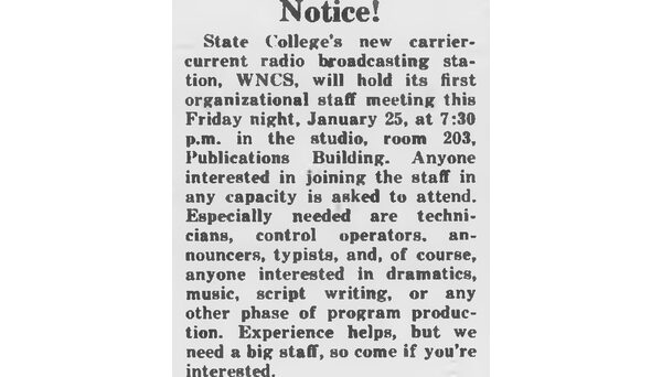 Recruitment ad published in Jan. 25, 1946 Technician.
