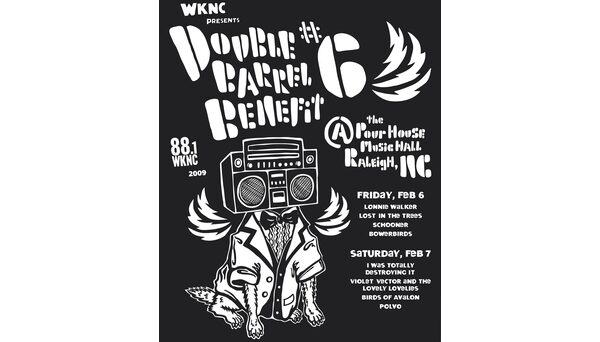 Double Barrel Benefit 6 poster designed by Rich Gurnsey