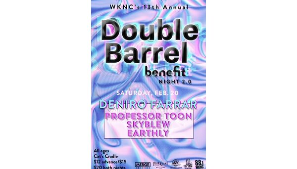 Double Barrel Benefit 13 night two poster designed by Kaanchee Gandhi