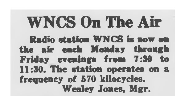Notice published in Oct. 4, 1946 Technician.