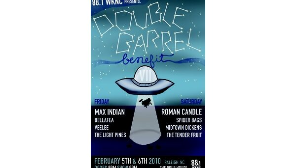 Double Barrel Benefit 7 poster designed by Kirsten Southwell