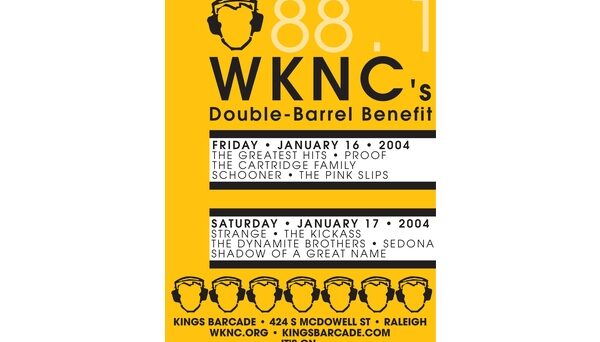 Double Barrel Benefit poster designed by Vince Carmody
