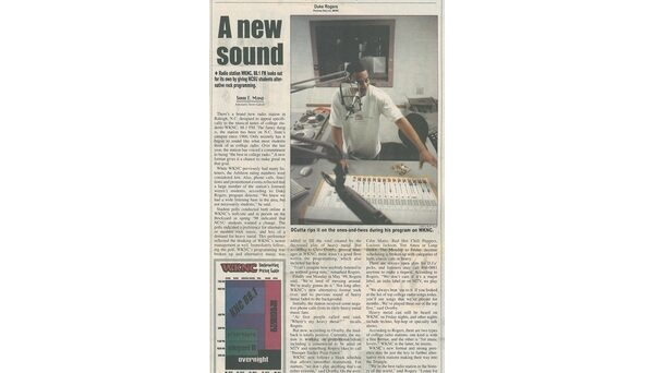 WKNC switched to an alternative rock format during daytime hours in summer 1999. Article published in Aug. 25, 1999 Technician.