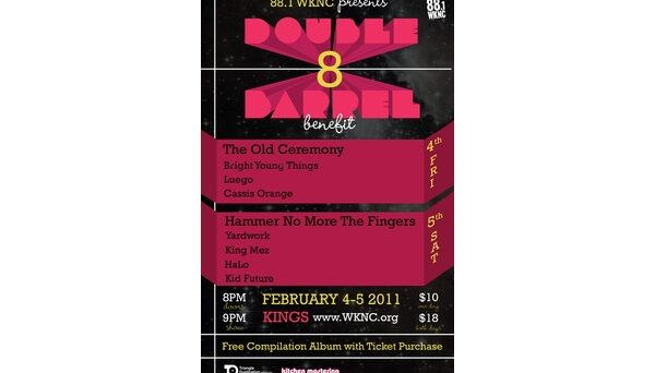 Double Barrel Benefit 8 poster designed by Kirsten Southwell