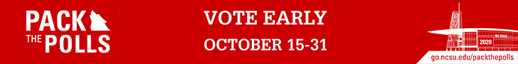 Pack the Polls by voting early Oct. 15-31.