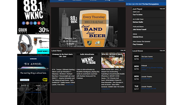 In March 2015 WKNC unveiled its first major website overhaul since 2007 with a modular, mobile-responsive design and new online history exhibit.