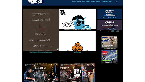 October 2020 saw another major overhaul of WKNC.org, bringing both the website and blog together as one WordPress site.