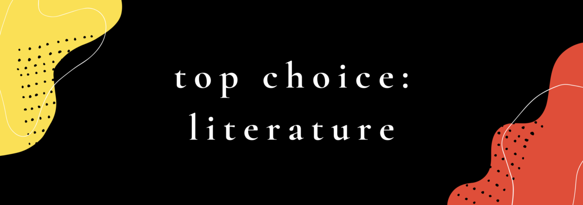 cover art, says top choice: literature