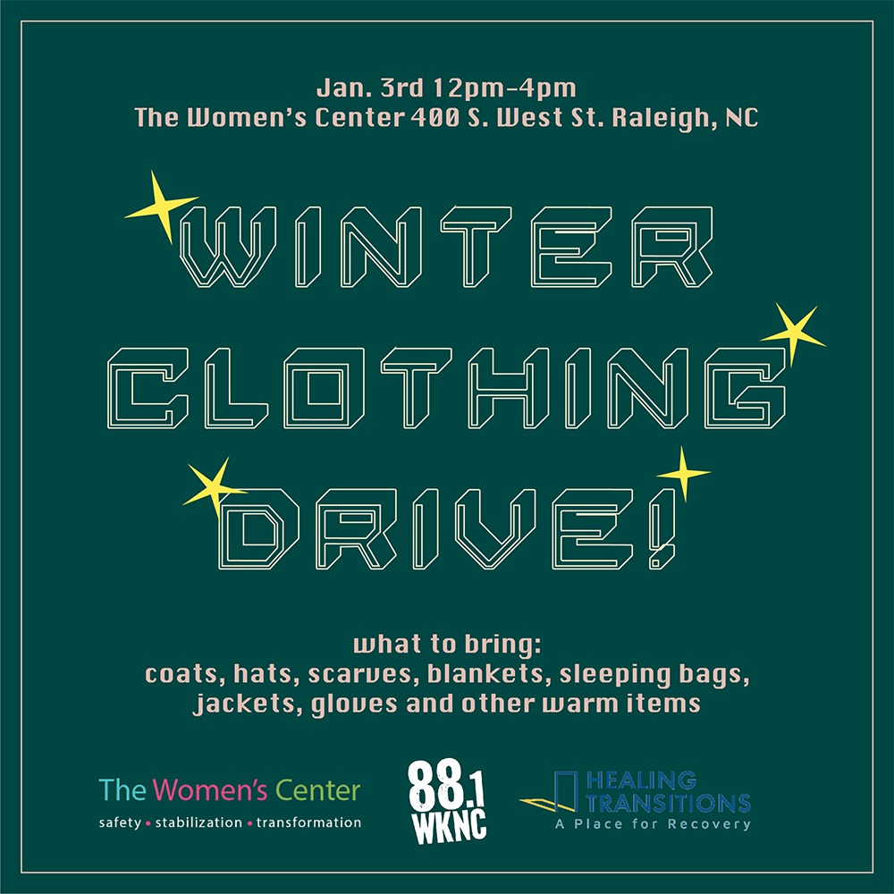 Winter Clothing Drive on Jan. 3 from noon to 4 p.m.