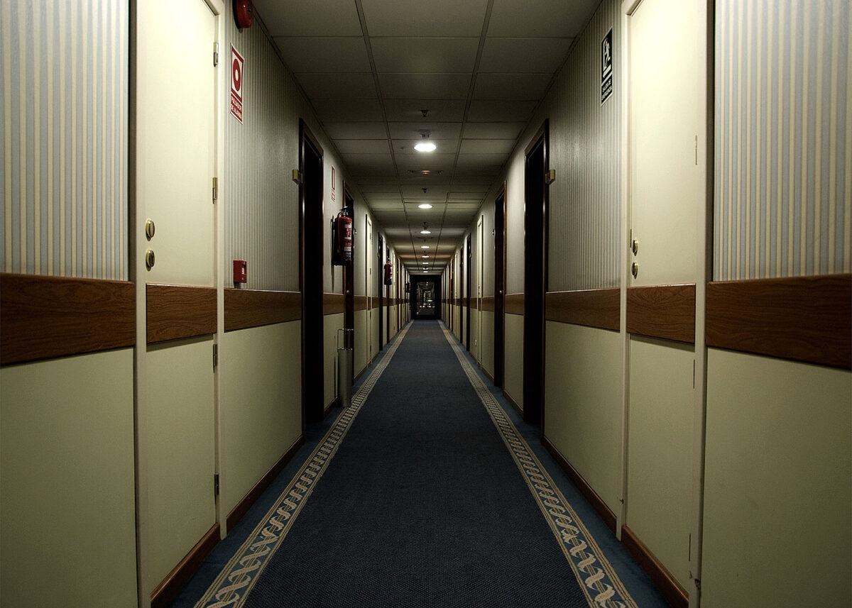 A long, hallway that appears to have no end