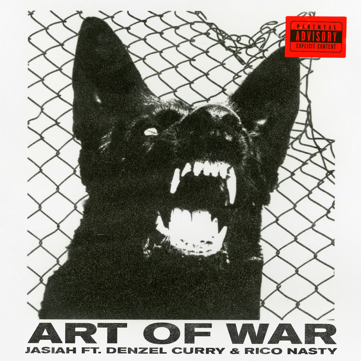 """""""Art of War"""" by Jasiah (feat. Denzel Curry and Rico Nasty) Single Cover"""