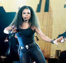 Janet Jackson dancing on a stage