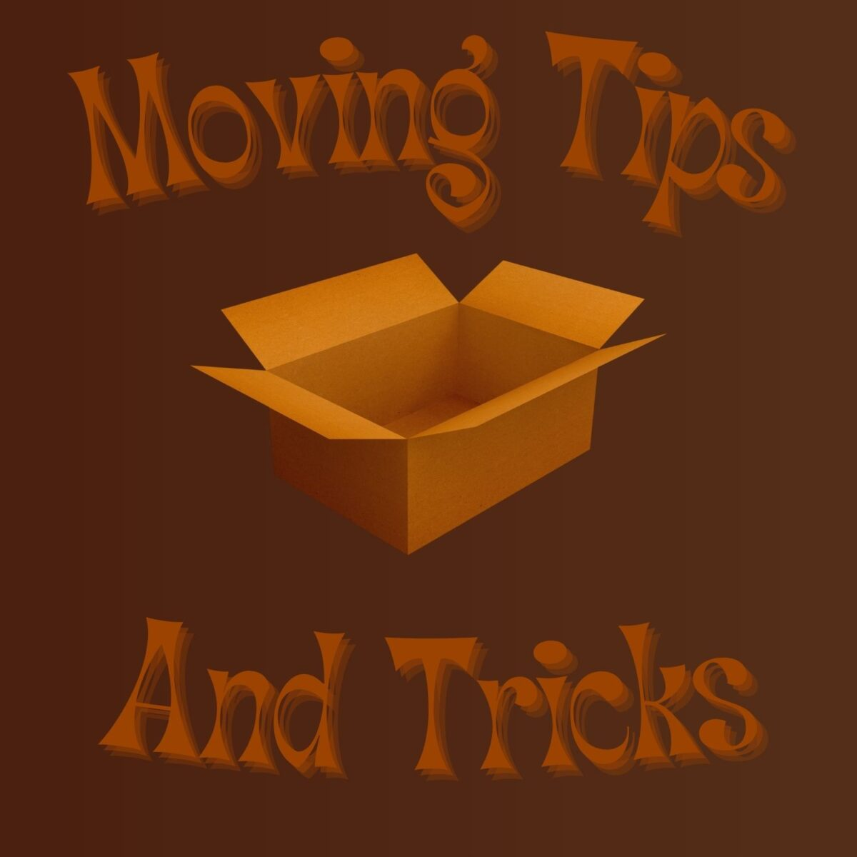 Moving Tips with cardboard box