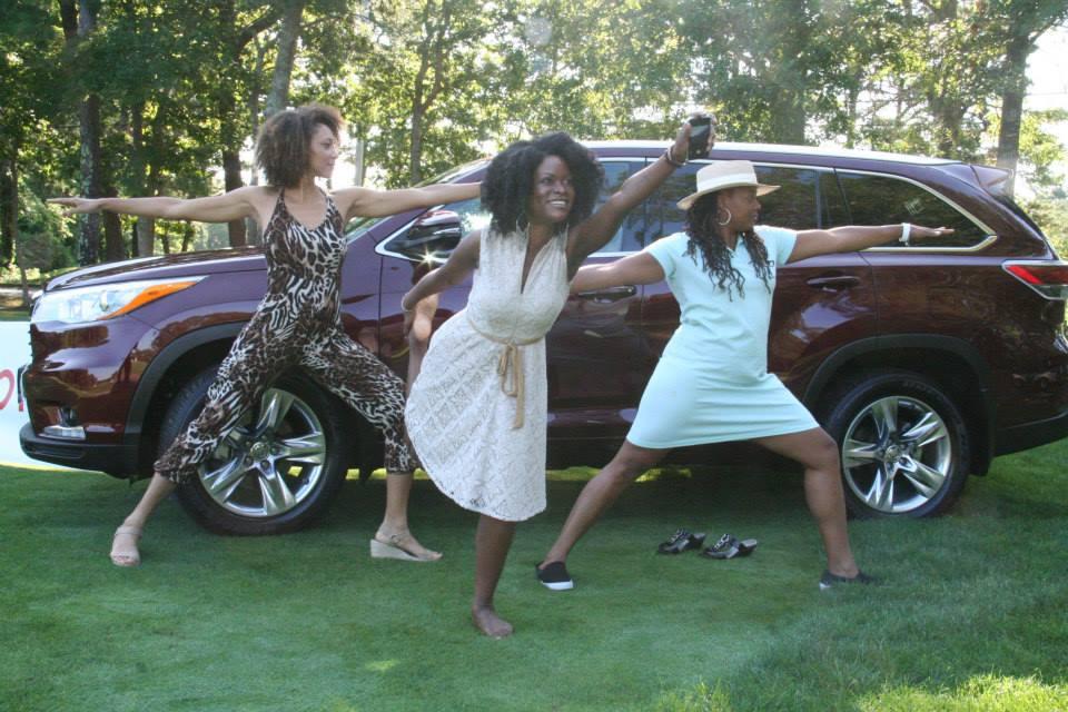 Abiola, Zuyapa, Linda -- Yoga on the Green