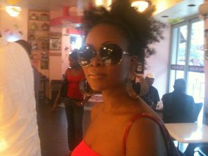 Abiola Abrams in Harlem, Natural Hair