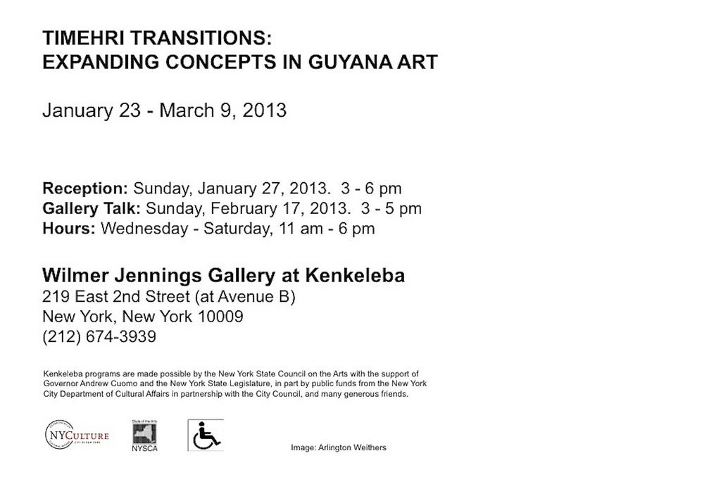 Art Gallery Exhibit Invitation Back