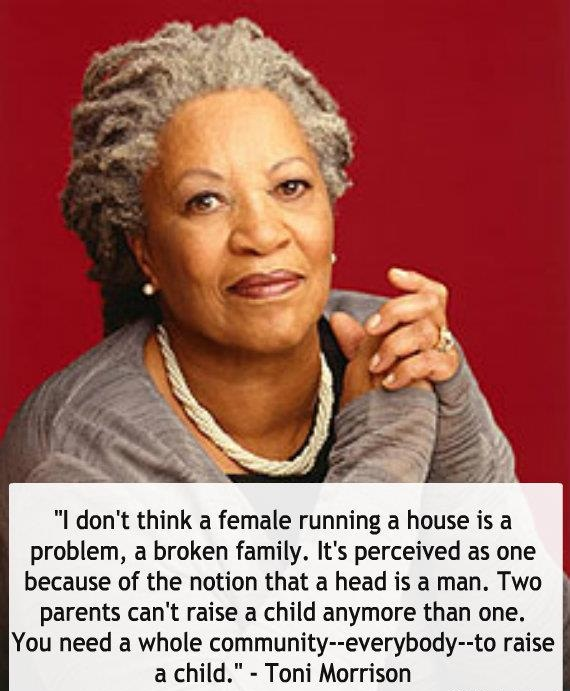 Toni Morrison Quote female running hous