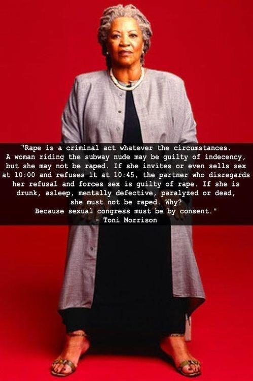 Toni Morrison Quote  rape