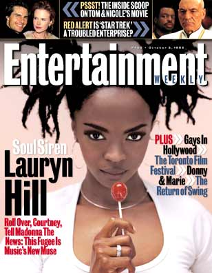 Photo: Lauryn Hill, Entertainment Weekly cover.