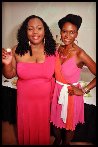 Bloggers Kitty Bradshaw and Abiola Abrams