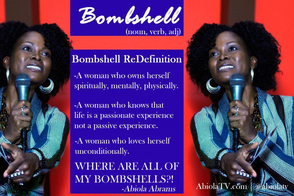 Abiola defines bombshell.