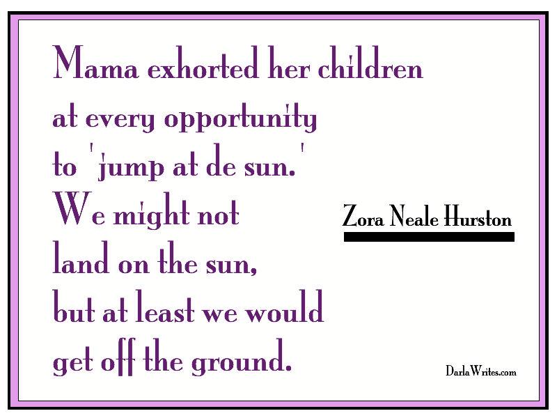 zora neale hurston - jump at the sun!