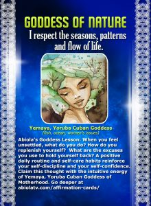 Yemaya Goddess Affirmation Card