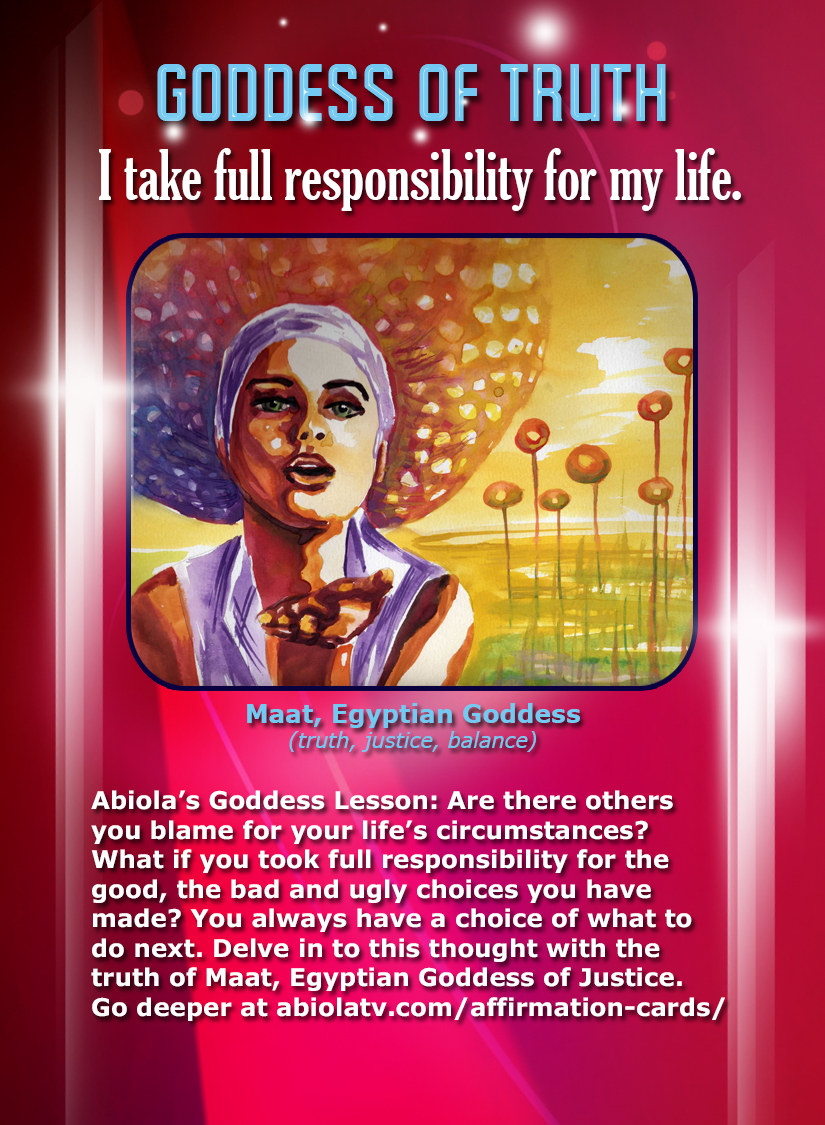 Maat, African Goddess - Positive Affirmation Card