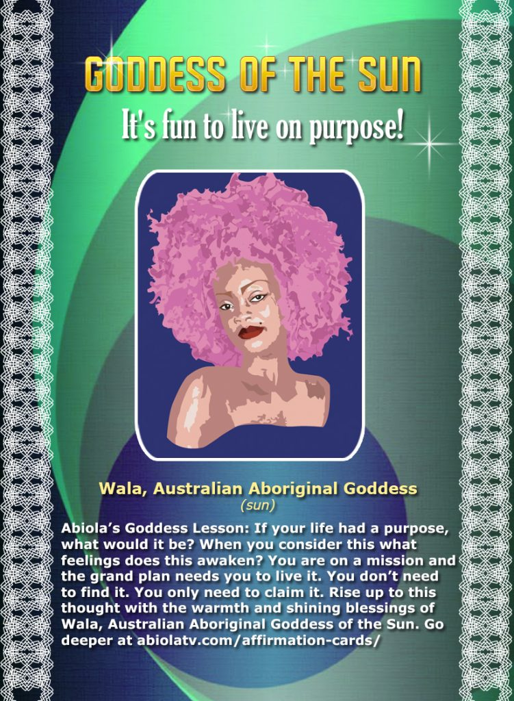 Goddess of the Sun Affirmation Card by Abiola