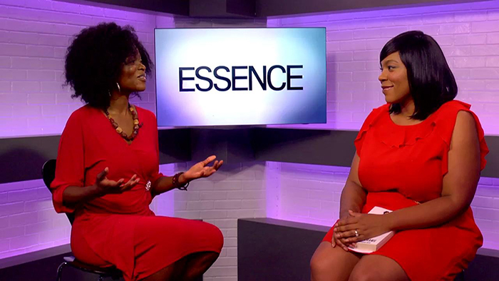 Abiola Abrams and Charli Penn Watkins of Essence Magazine