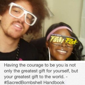 Red Foo of LMFAO and Abiola Abrams