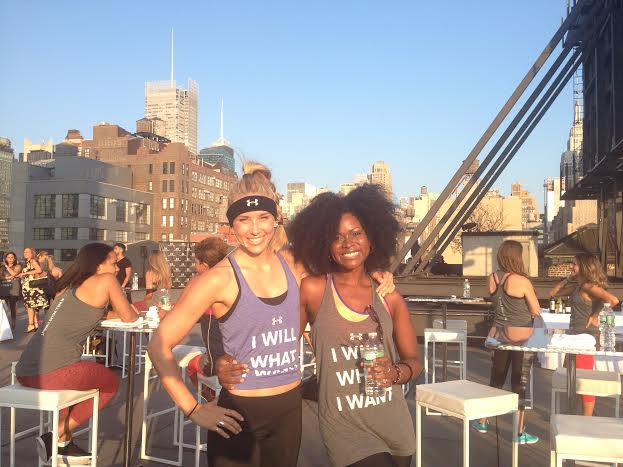 Natalie Uhling and Abiola Abrams - Nufit Under Armour Fitness on the Roof