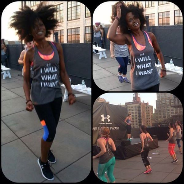 working out afro hair