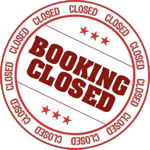 Booking is Closed - see you at the next one!