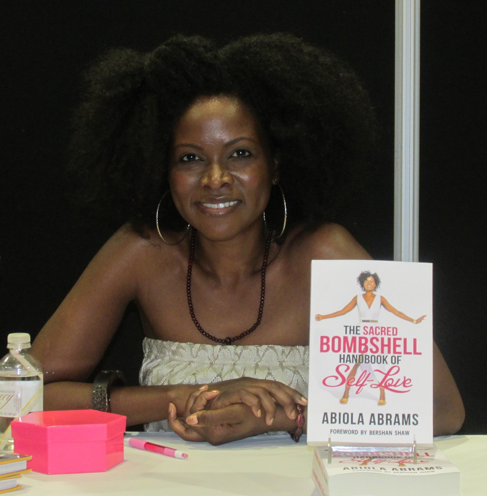 Abiola Abrams, Book Signing for Sacred Bombshell Self-Love Advice Guide