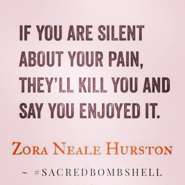 if you are silent about your pain