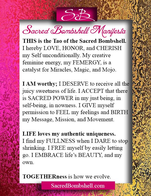 Sacred Bombshell Manifesta - Self-Love