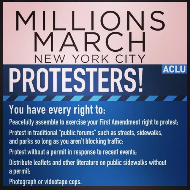 protestors rights