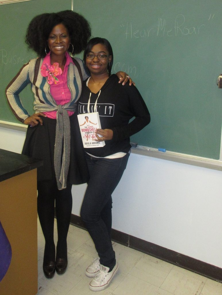 Abiola Abrams and Lauren at McKendree University