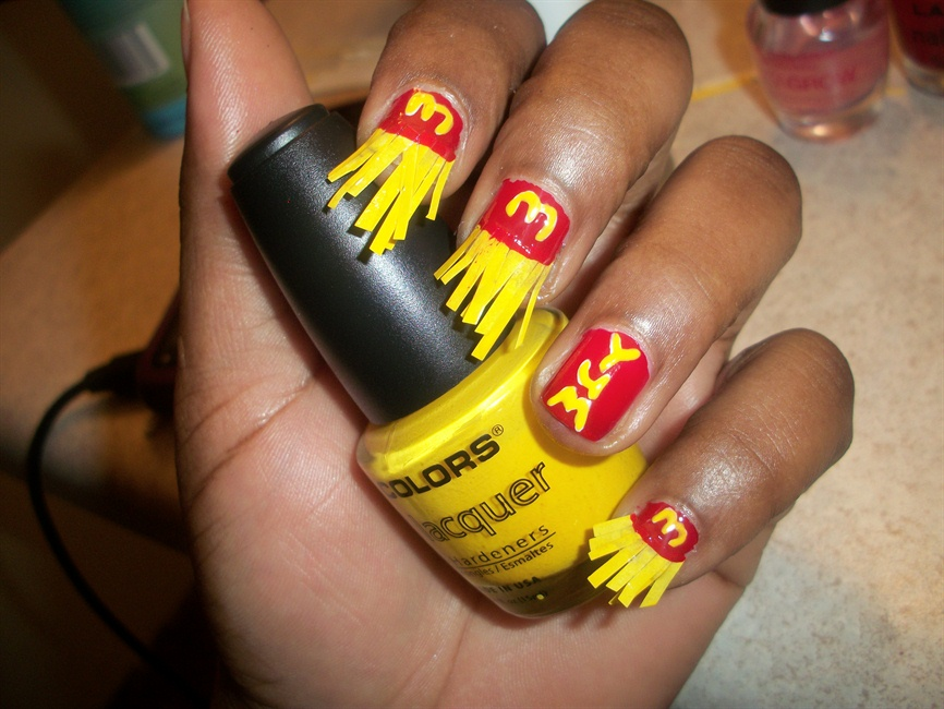 mcdonalds french fry manicure