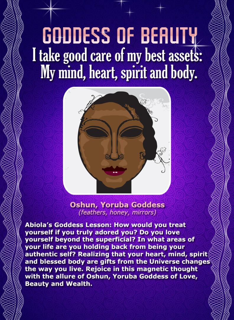 Yoruba Orisha Oshun - African Goddess Affirmation Card