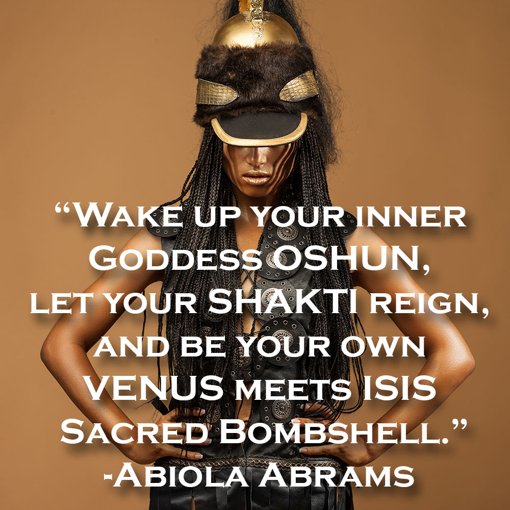 Wake Up Your Inner Goddess! Affirmation Card and Inspirational Quote