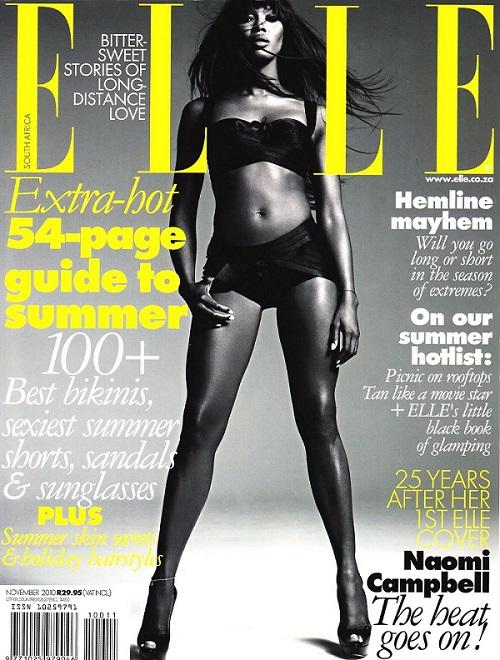 Elle Magazine, Naomi Campbell